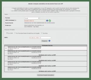 Imagem da tela do site da Secretaria da Fazenda com instruções para cadastrar a Nota Fiscal Paulista