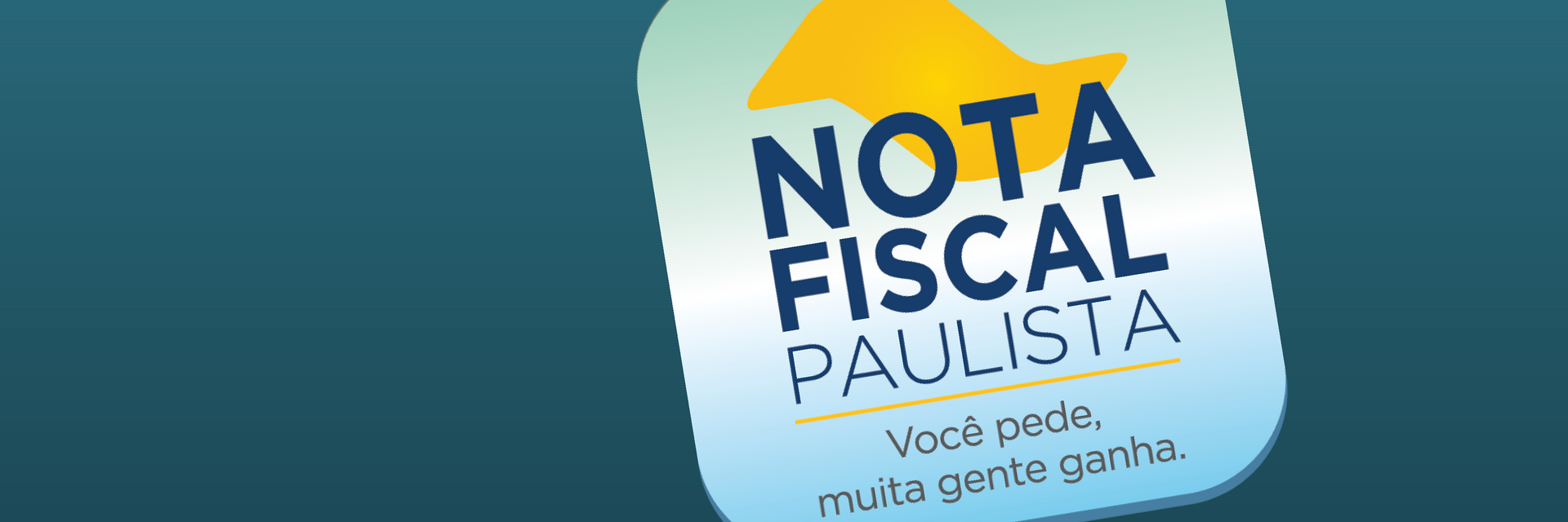Arte com o logotipo da Nota Fiscal Paulista